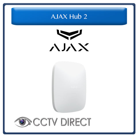 Ajax Hub 2 GSM - Ethernet- 100 Zone Wireless System with Visual Alarm Verifications