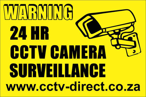 CCTV Warning signs, pack of 6