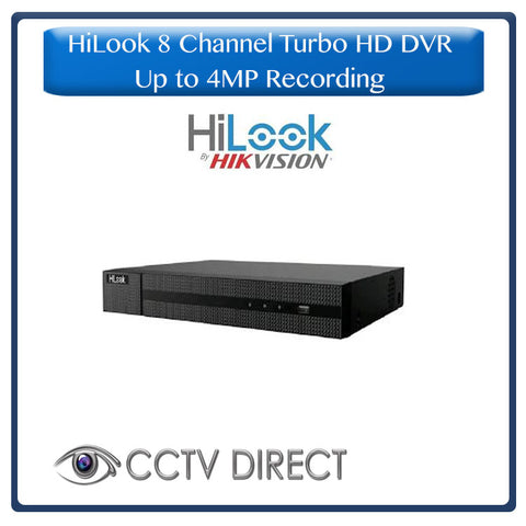HiLook by Hikvision 8ch Turbo HD DVR up to 4MP lite resolution for recording