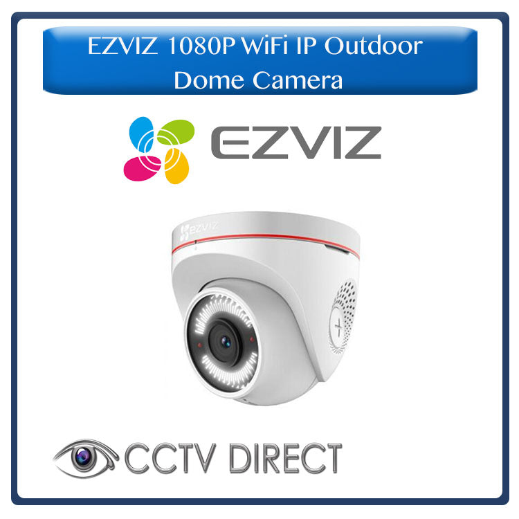 EZVIZ  – 1080p Full HD Outdoor WiFi IP Dome Camera with Active Defense