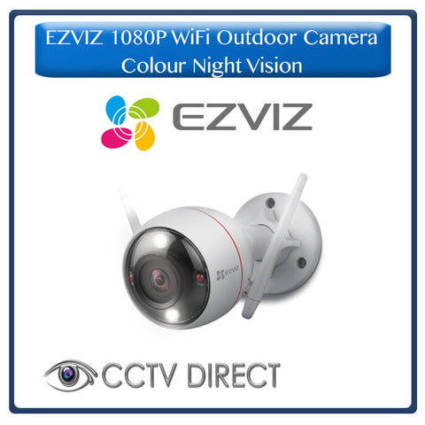 EZVIZ  Colour Night Vision – 1080p Full HD Outdoor WiFi IP Camera with Full Colour Night Vision