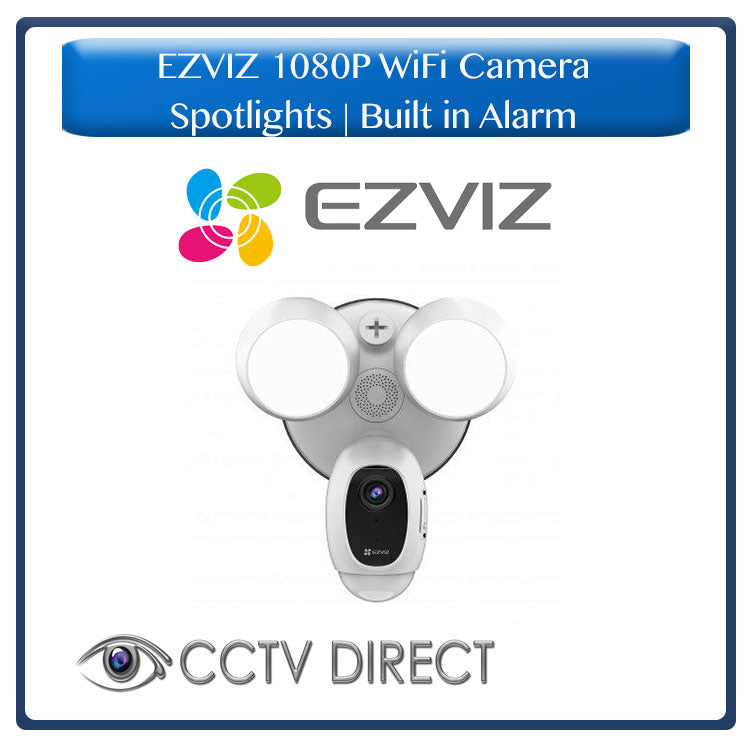Hikvision EZVIZ 1080p Wifi camera with 2 Spotlights, Built in alarm