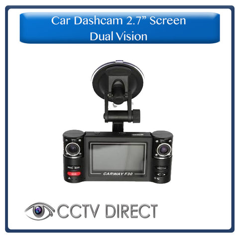 "2.7"" HD Dual Lens Car Camera DVR with Night Vision"