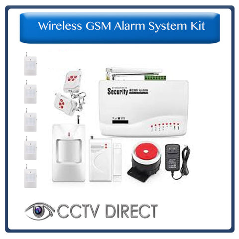Wireless GSM Alarm System - Sends you an SMS when alarm goes off 6 x PIR, 1 x Gap detector