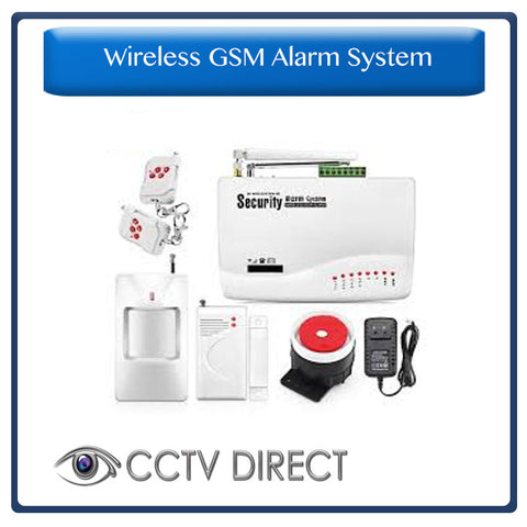 Wireless GSM Alarm System - Sends you an SMS when triggered. 1 x PIR, 1 x Gap detector