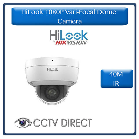 HiLook by Hikvision Vari Focul 2MP 1080P Dome camera, 40M night vision, 2.8-12mm