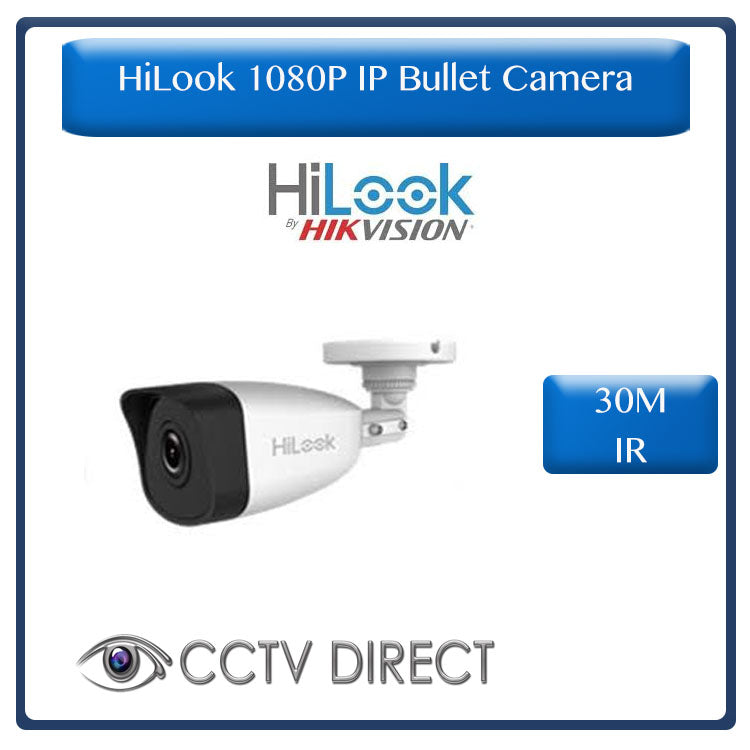 HiLook by Hikvision 2MP IP Network Bullet Camera, 30M IR