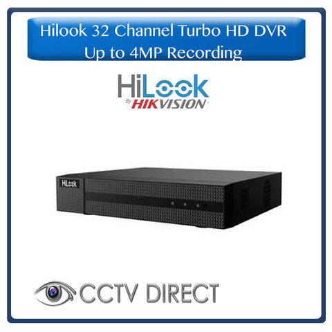 HiLook by Hikvision 32ch Turbo HD DVR up to 4MP lite resolution for recording