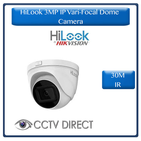 HiLook by Hikvision 3MP IP Vari focul dome camera, 2.8-12mm  30m IR, IP67