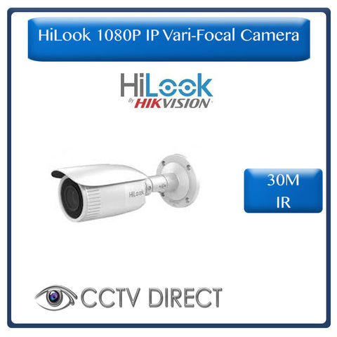 HiLook by Hikvision 2MP IP Network Bullet Camera Vari Focul 2.8mm-8mm, 30M IR