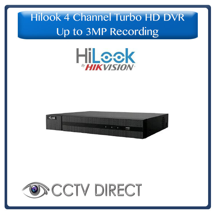 HiLook by Hikvision 4ch Turbo HD DVR up to 3MP recording