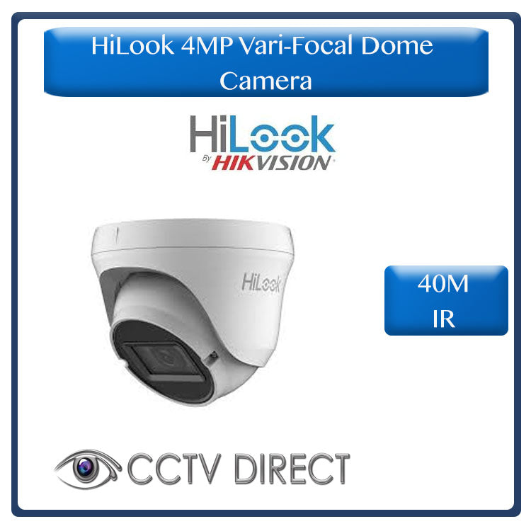 HiLook by Hikvision Vari Focul 4MP Dome camera, 40M night vision, 2.8-12mm