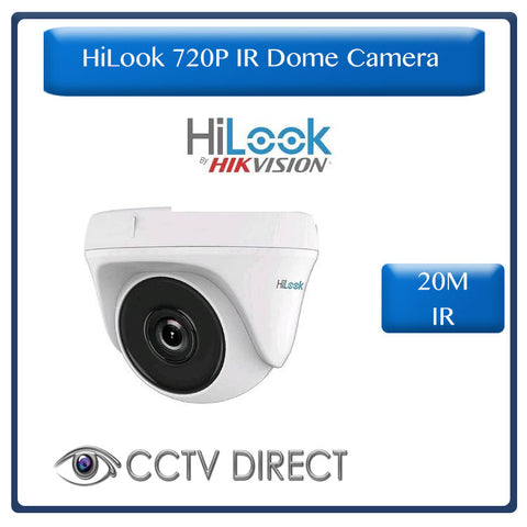 HiLook by Hikvision 1MP 720P HD Exir Dome camera, 20m night vision