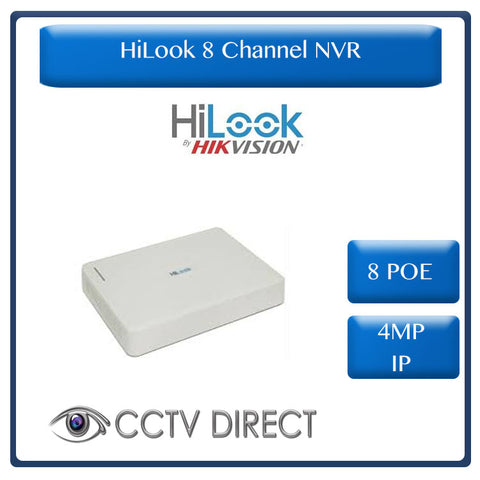 HiLook by Hikvision 8ch 8POE NVR 4MP IP