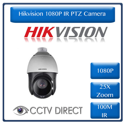 Hikvision 1080p 2MP IR Turbo 4-Inch Speed Dome, 25 x Zoom, 100m IR