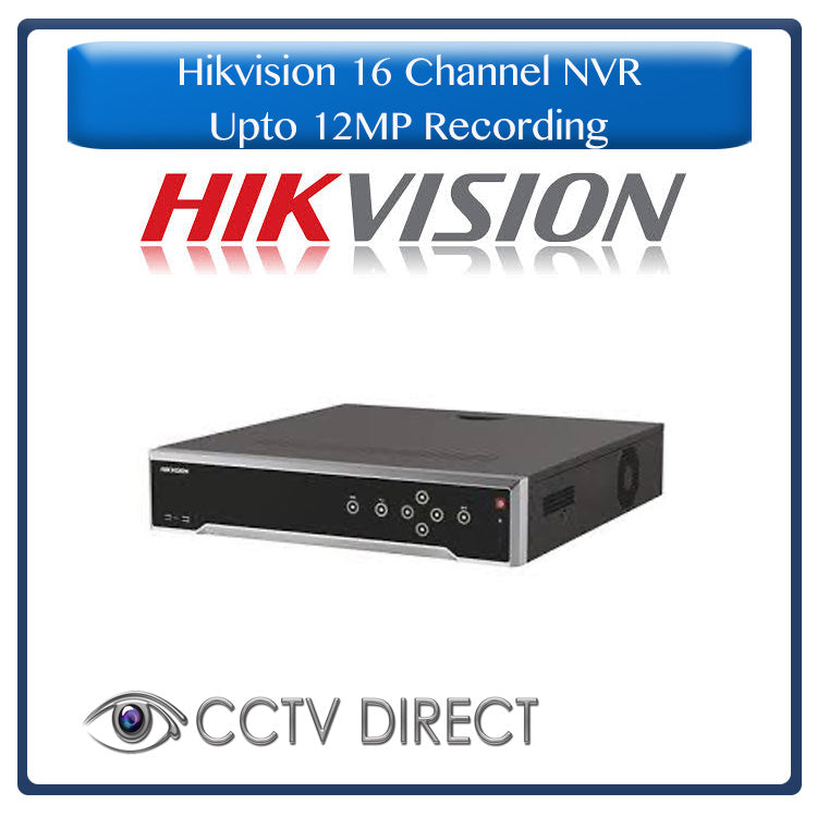 Hikvision 16ch NVR - DS-7716NI-I4, up to 12MP, Works with Number plate recognition cameras