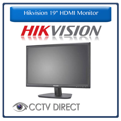 "Hikvision 19"" HDMI Monitor - Designed to run 24/7"