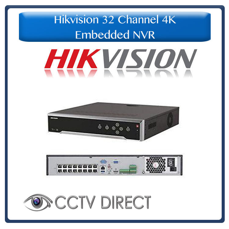 Hikvision 32ch Embedded Plug & Play 4K NVR up to 12MP, 16 POE