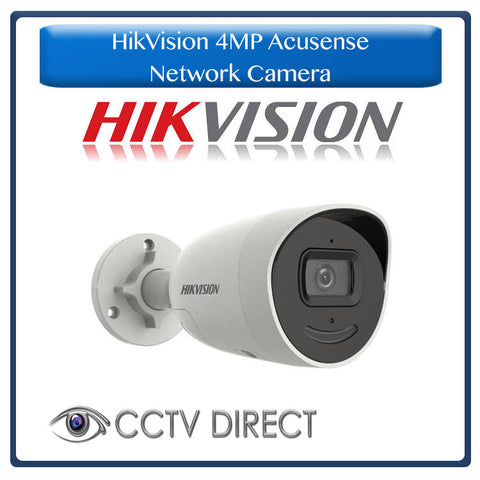 Hikvision 4 MP AcuSense Strobe Light and Audible Warning Fixed Mini Bullet Network Camera