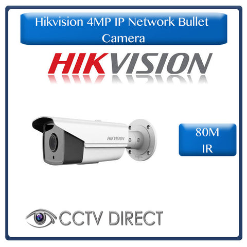 Hikvision 4MP IP Network Bullet Camera, 80M IR