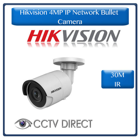 Hikvision 4MP IP Network Bullet Camera, powered by Darkfighter 30M IR