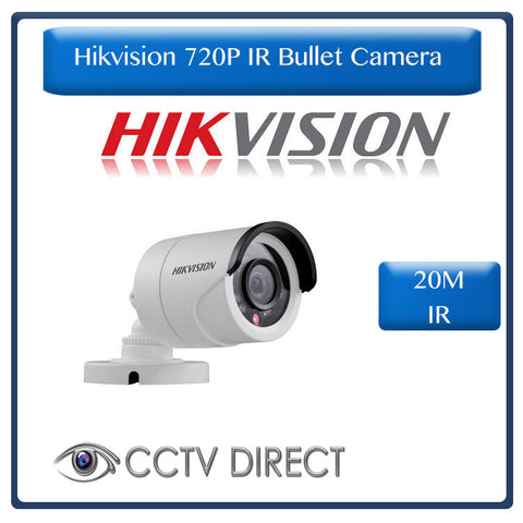 Hikvision HD720P IR Bullet Camera, 20M Night vision, 2.8mm