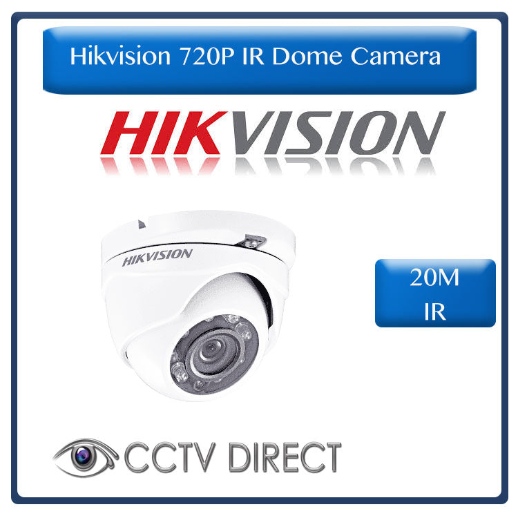 Hikvision HD720P IR Dome Camera, 20M Night vision, 1MP