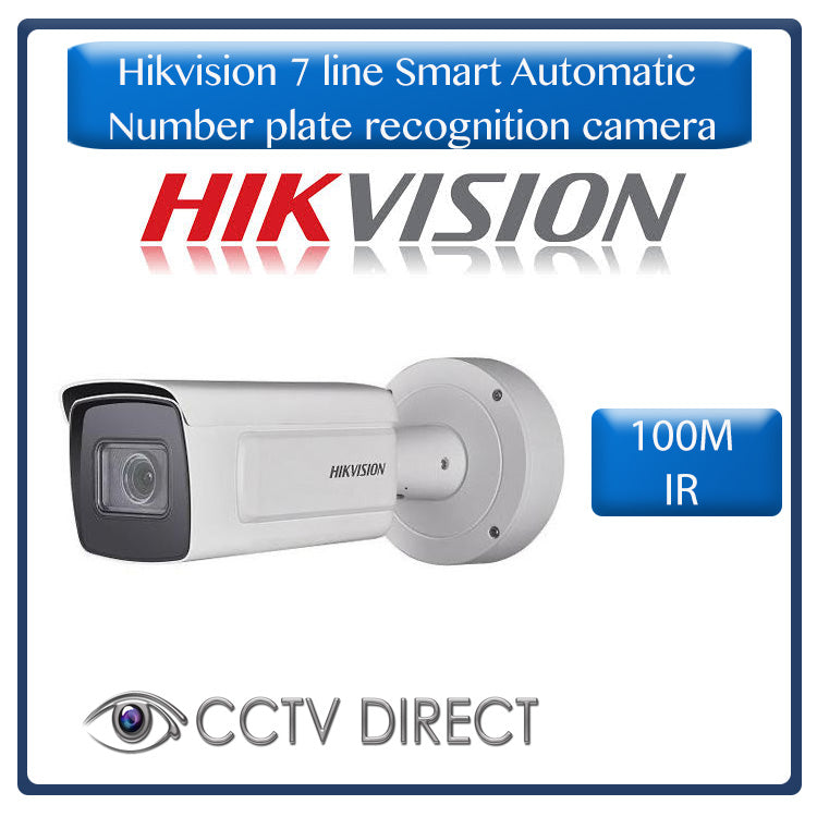 Hikvision 7 line Smart Automatic Number plate recognition camera 8-32mm, 100m IR