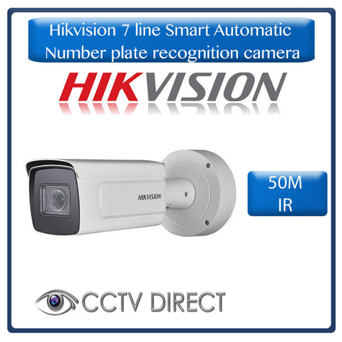 Hikvision 7 line Smart Automatic Number plate recognition camera 2.8-12mm, 50m IR