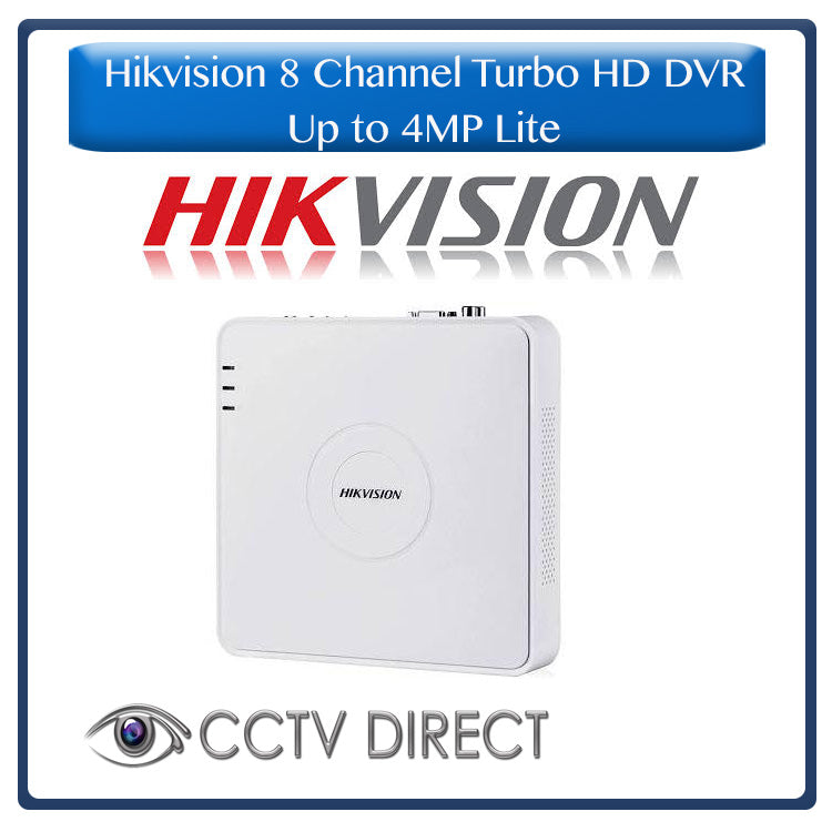 Hikvision 8ch Turbo HD DVR up to 4MP lite