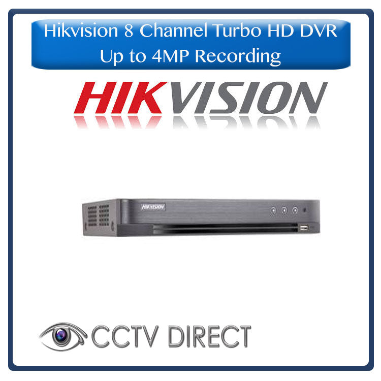 Hikvision 8ch Turbo HD DVR up to 4MP lite resolution for recording