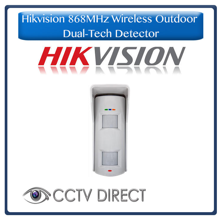 Hikvision 868MHz Wireless Outdoor Dual-Tech Detector, for use with the Hikvision alarm