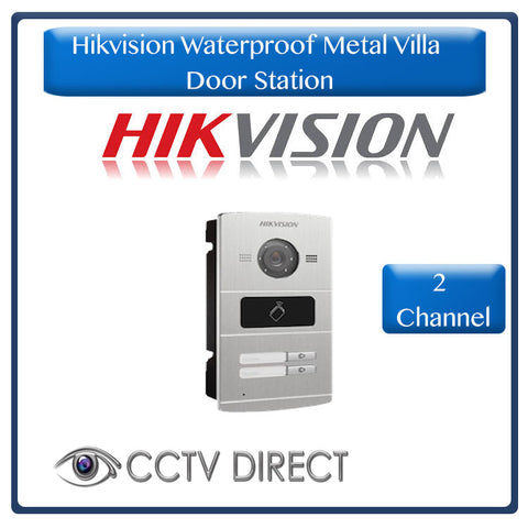 Hikvision Waterproof Metal Villa Door Station - 2 channel