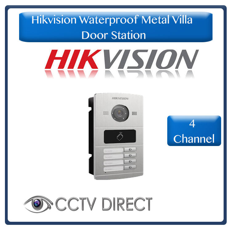 Hikvision Waterproof Metal Villa Door Station - 4 channel