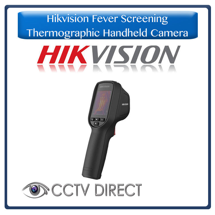 Hikvision Fever Screening Thermographic Handheld Camera, Measures skin Temp from 30cm to 1.8m's away