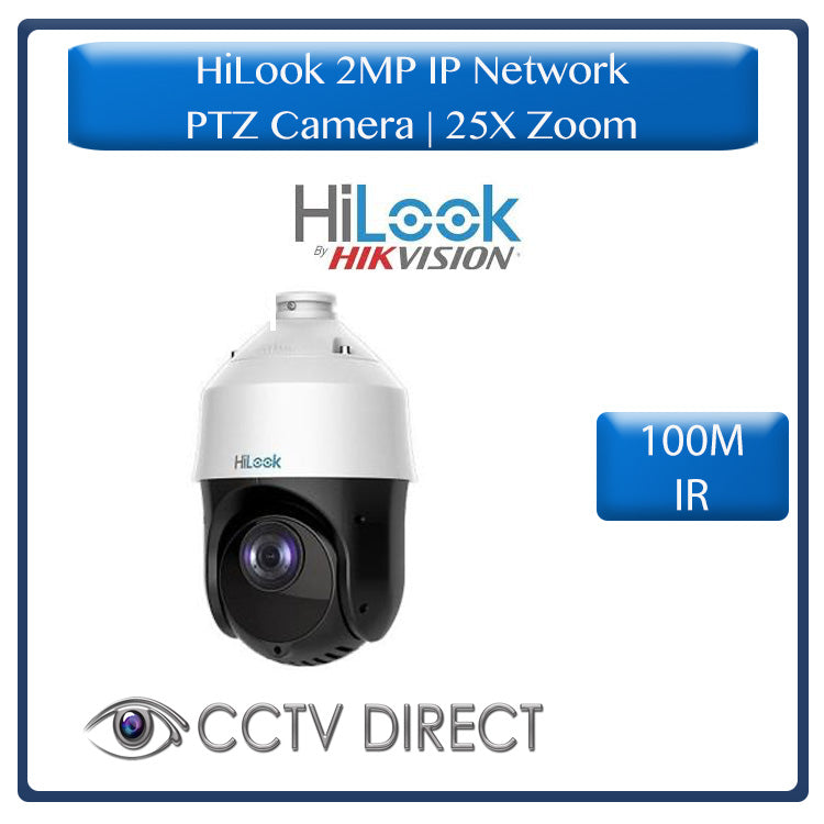 HiLook by Hikvision 2MP IP network PTZ 25 x zoom, 100m IR Darkfighter