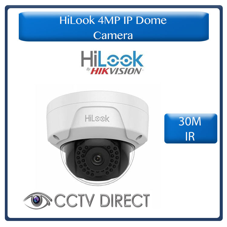 HiLook by Hikvision 4MP IP Dome camera, IP67. 30m IR