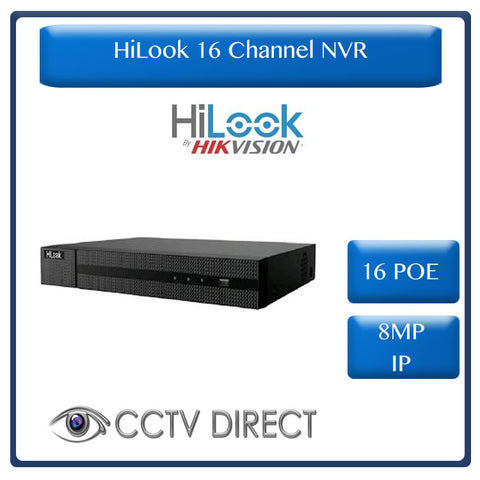 HiLook by Hikvision 16ch 16POE NVR 8MP IP