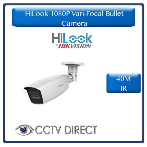HiLook by Hikvision Vari Focul 2MP 1080P Bullet camera, 40M night vision, 2.8-12mm