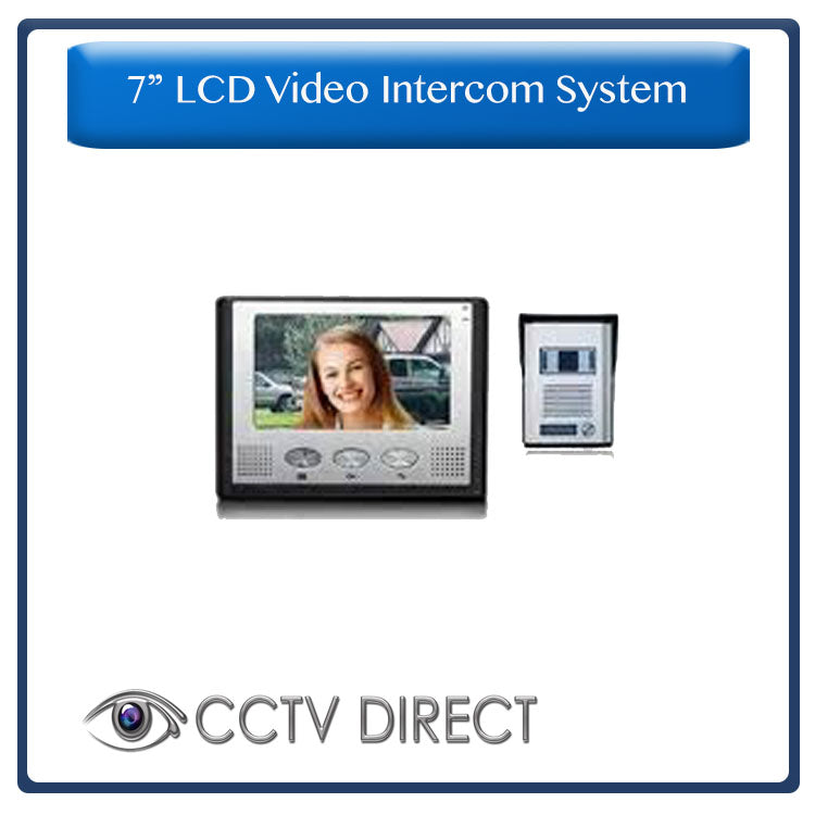 "7"" LCD Colour Video Intercom system, Complete, with power supply and 15m cables"