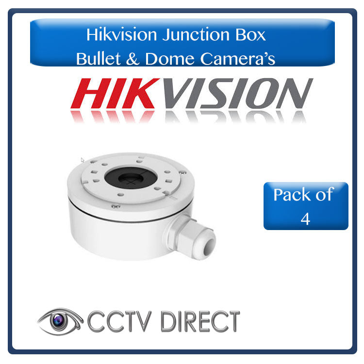 **Pack of 4** Hikvision Junction box for Bullet & Dome camera's - High quality (R249 each)