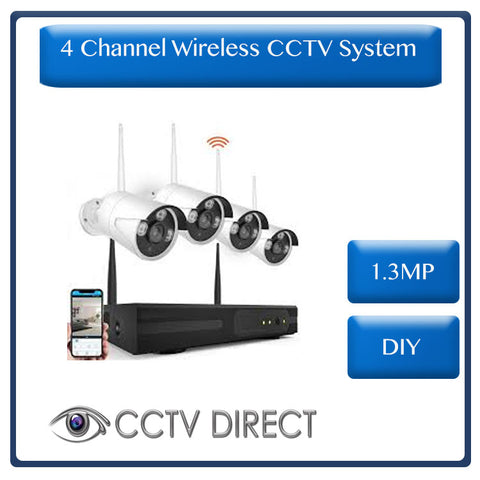 Wireless 4 Channel HD NVR Kit - DIY