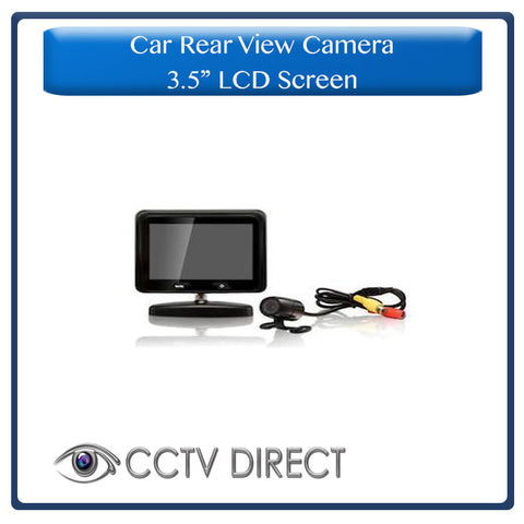 "Car rear view camera with 3.5"" LCD Screen"