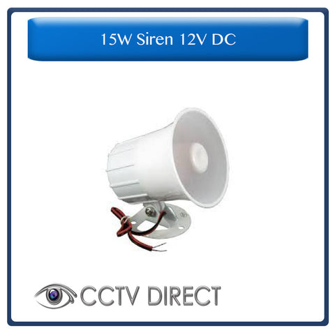 15w Siren 12V DC for use with Roboguard