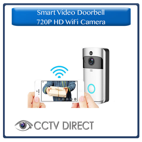 Smart Video Doorbell 720P HD WiFi Camera Real-Time Two-Way Wide-Angle Audio