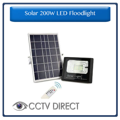 Solar 200W LED Flood Light with remote control