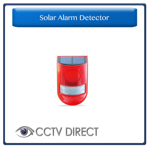 Solar Alarm Flashing 6 LED Light Motion Sensor Detector Security 129dB Siren