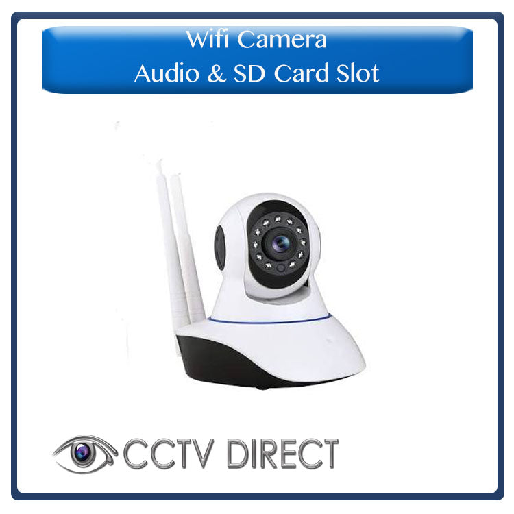 Wifi Camera with Audio and SD card slot for recording, supports up to 720P