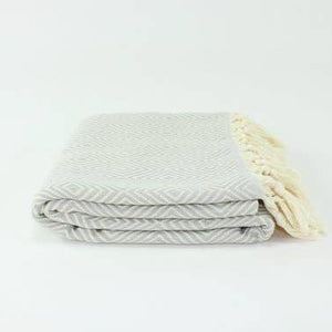 Light Gray Diamond Throw
