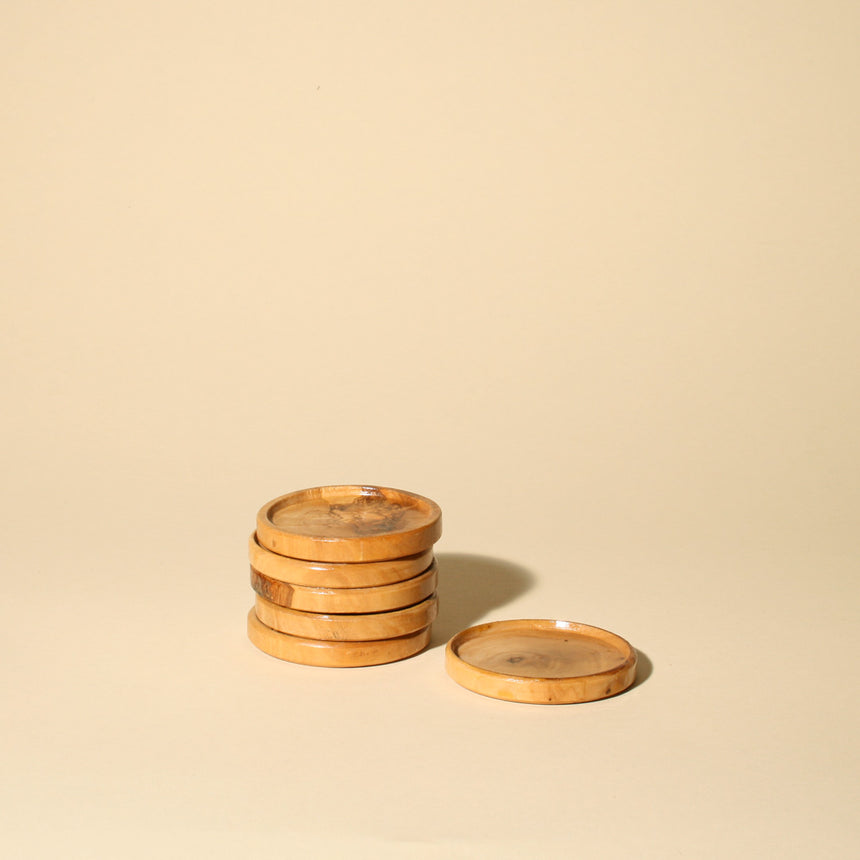 Wooden Coasters – set of 6